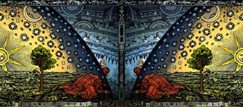 C._Flammarion_-_Universum_-_Paris_1888_-_Colored_Panorama_Version