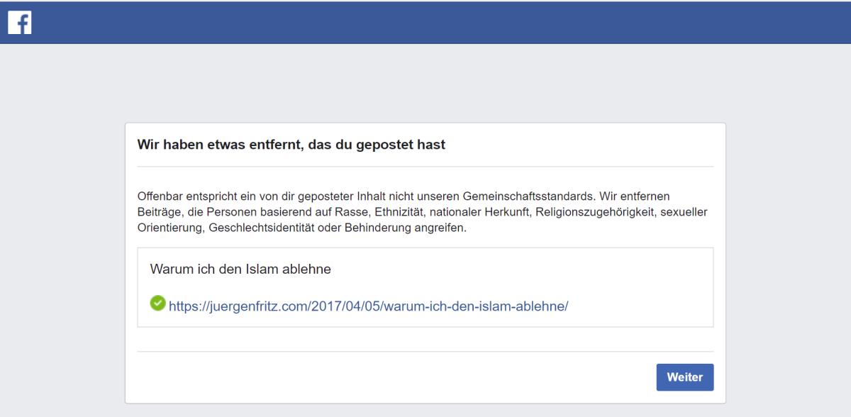 Jürgen Fritz von Facebook zum fünften Mal gesperrt