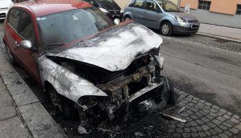 Martin Sellners Auto abgefackelt