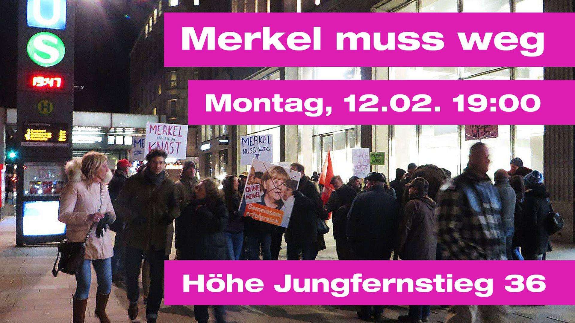 Hamburg Erhebt Sich Merkel Muss Weg Jürgen Fritz Blog