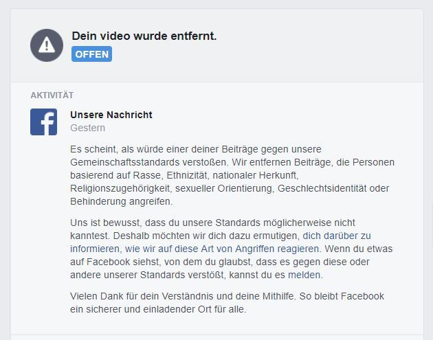 Fb-Sperre-Video