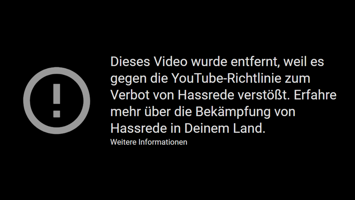 YouTube löscht das Video von #120db - Jürgen Fritz Blog macht es wieder zugänglich