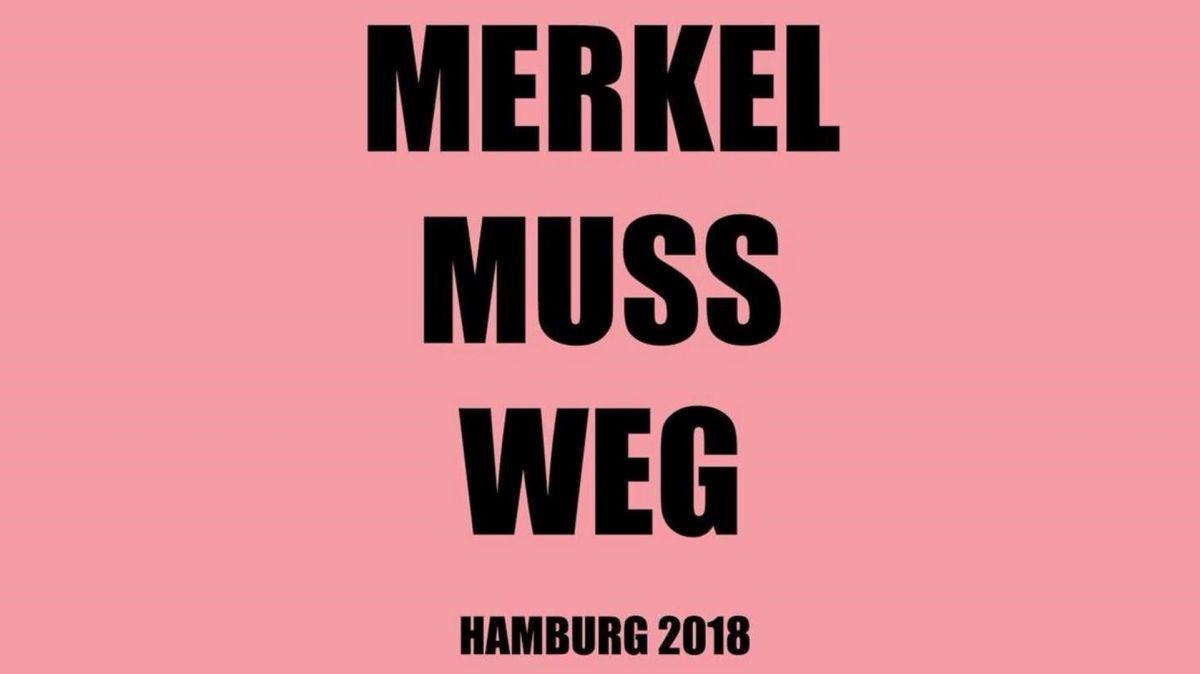Gastredner auf der Hamburger Merkel-muss-weg-Demo am 26.03.2018: Jürgen Fritz