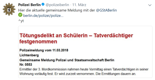 Polizeitweet