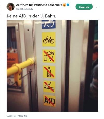 Keine AfD in U-Bahn -3