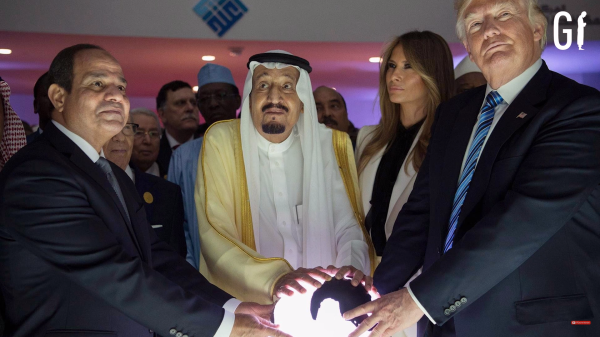 Trumps+Saudi-König