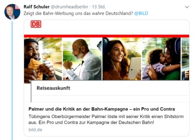 Bahn-Werbung