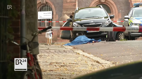 erschossene Frau