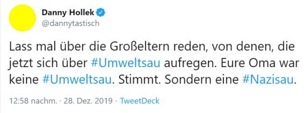 Danny Holek-Tweet