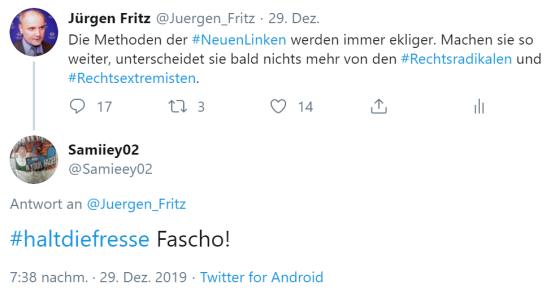 Halt die Fresse Fascho!