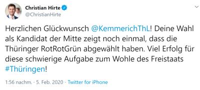 Christian Hirte - Glückwunsch