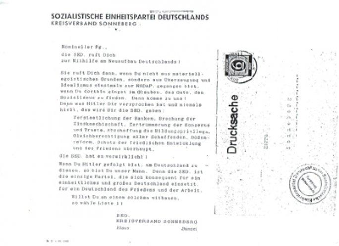 Von der NSDAP zur SED