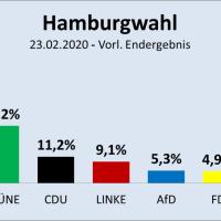 FDP fliegt mit 4,96 Prozent raus: So hat Hamburg gewählt