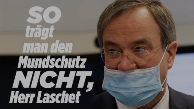 Armin Laschet Mundschutz