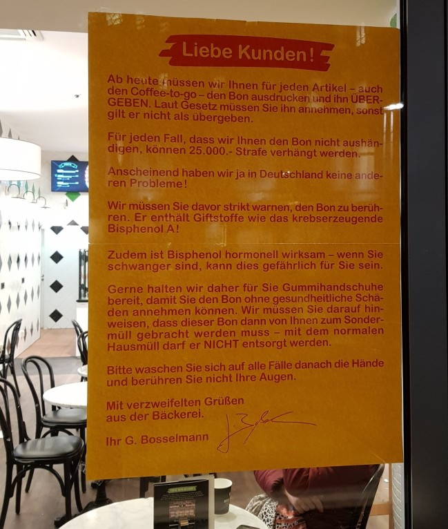 Bosselmann-Kunden-Plakat