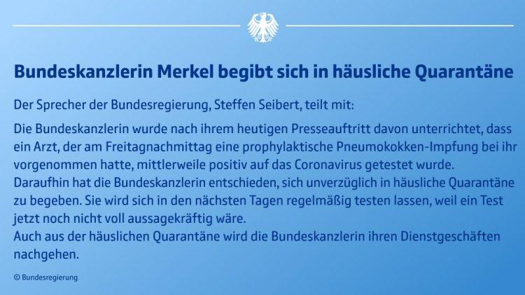 Merkel-Quarantäne
