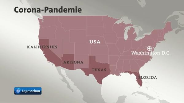 USA besonders betroffene Staaten