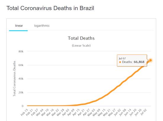 Corona-Tote Brasilien 2020-07-07