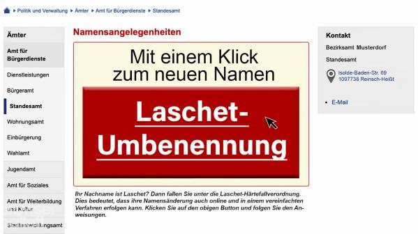 Laschet-Umbenennung