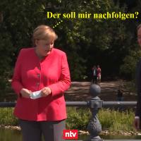 Angela Merkel und Armin Laschet: eine Bildergeschichte