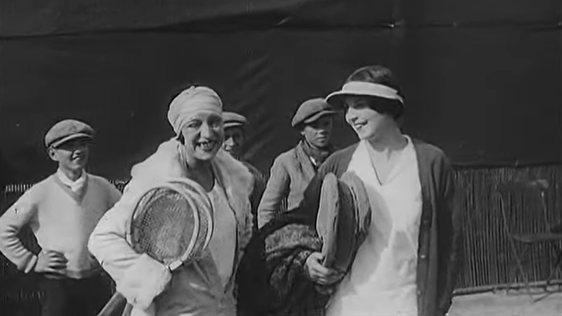 with Helen Wills Moody