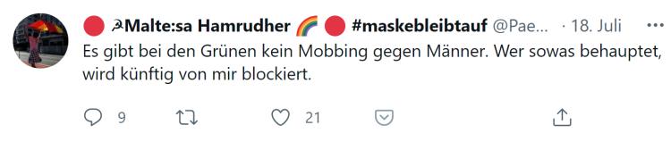 Mobbing gegen Männer