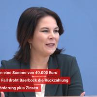 40.950 EUR: Annalena Baerbock + Heinrich-Böll-Stiftung = ziemlich beste Freunde