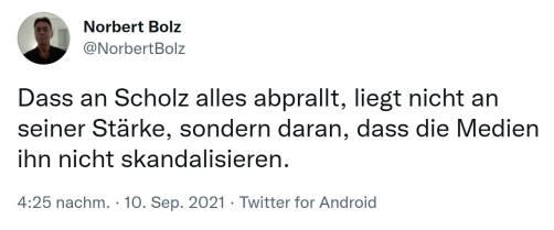 Norbert Bolz Fehlende Skandalisierung