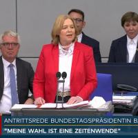 Kurzfassung der Antrittsrede der neuen Bundestagspräsidentin