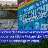 40 Prozent der Straftaten im Vorfeld der Bundestagswahl richteten sich gegen die AfD